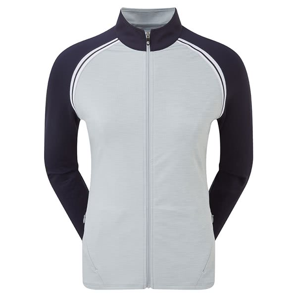 FootJoy Ladies French Terry Full Zip Colour Block Pullover