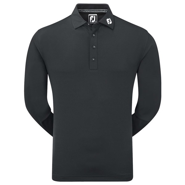 3ec939a66 FootJoy Mens Long Sleeve Thermolite Smooth Pique Polo Shirt. Double tap to  zoom. 1  2  3