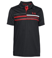Under Armour Boys Straight Flight Stripe Polo Shirt