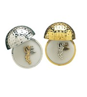 Navika Two-tone Golfing Angel Pin With A Premium Golf Ball Jewel Box