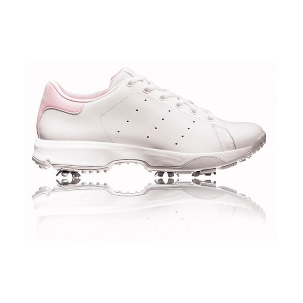 4df6a59c5c02 adidas Ladies Stanzonian Golf Shoes (White Pink). Double tap to zoom