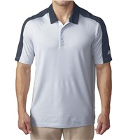 Adidas Mens ClimaCool Pique Geo Block Polo Shirt