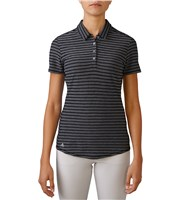 Adidas Ladies ClimaCool Mesh Stripe Polo Shirt