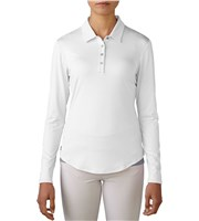 Adidas Ladies Essentials 3-Stripes Long Sleeve Polo Shirt
