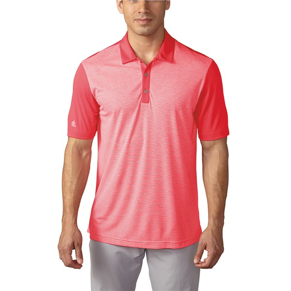 adidas Mens ClimaChill Heather Stripe Polo Shirt