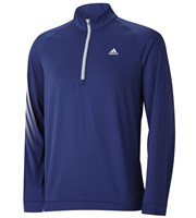 Adidas Mens 3 Stripes Half Zip Pullover  Logo on Left Chest