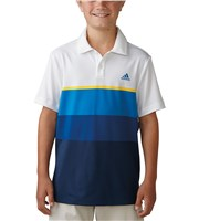Adidas Boys ClimaCool Engineered Striped Polo Shirt