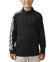 Adidas Boys 3-Stripe Quarter Zip Top
