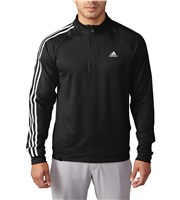 Adidas Mens 3 Stripes Quarter Zip Top  Logo on Chest