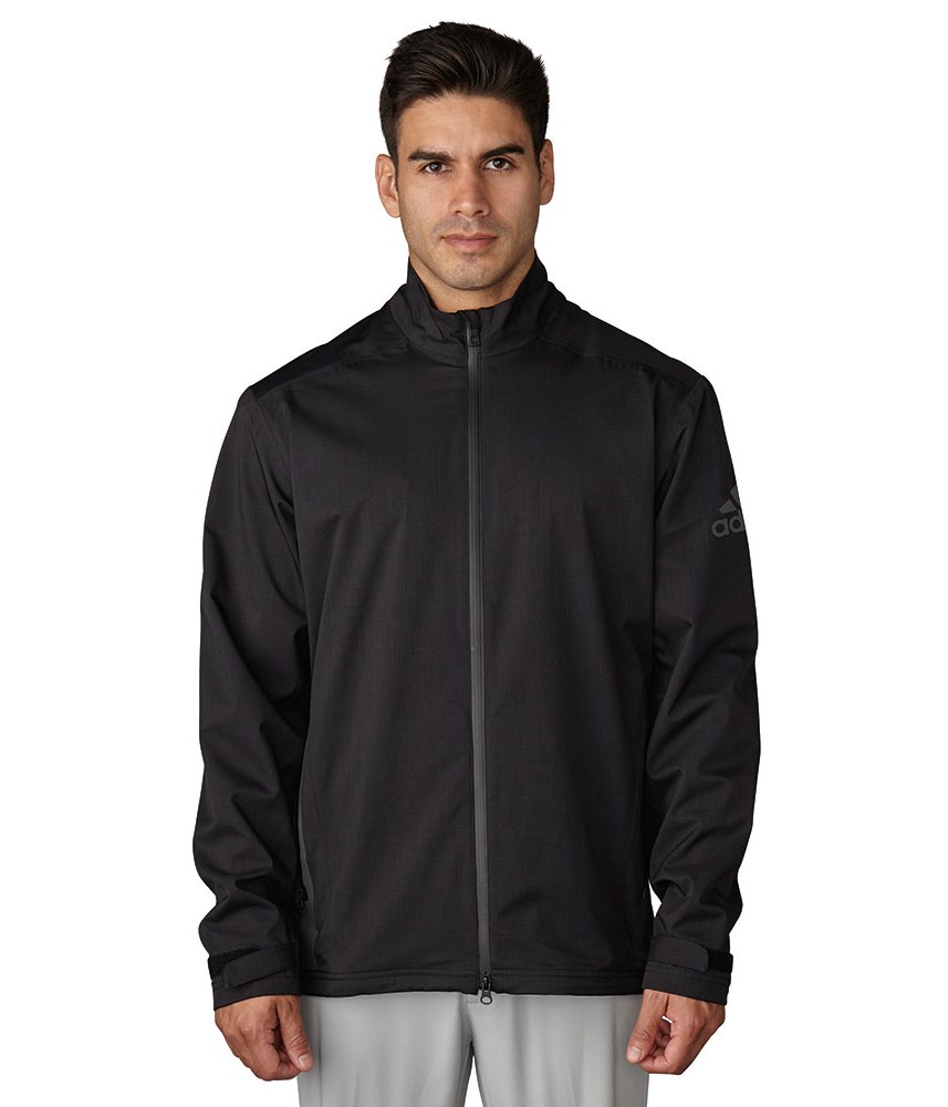 adidas Mens ClimaProof Heathered Rain Jacket