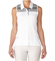 Adidas Ladies Multi Melange Sleeveless Polo Shirt