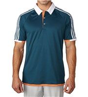 Adidas Mens Climachill Competition 3 Stripe Polo Shirt