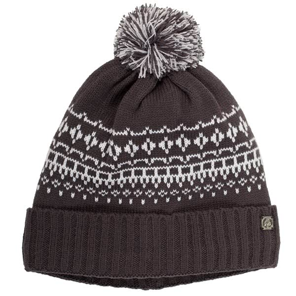 Green Lamb Ladies Helen Lined Fairisle Pom Beanie