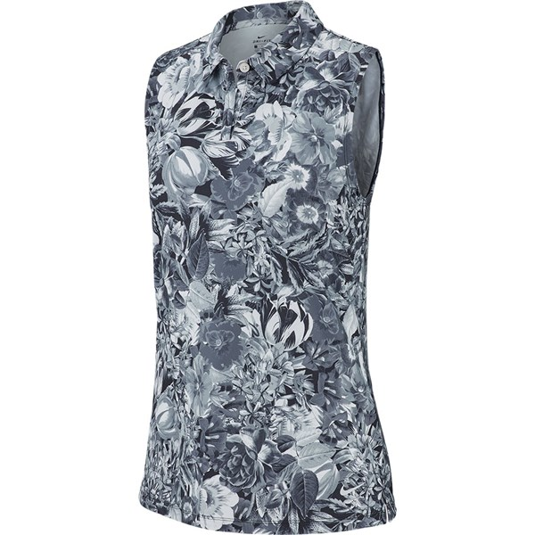 Nike Ladies Printed Sleeveless Polo Shirt
