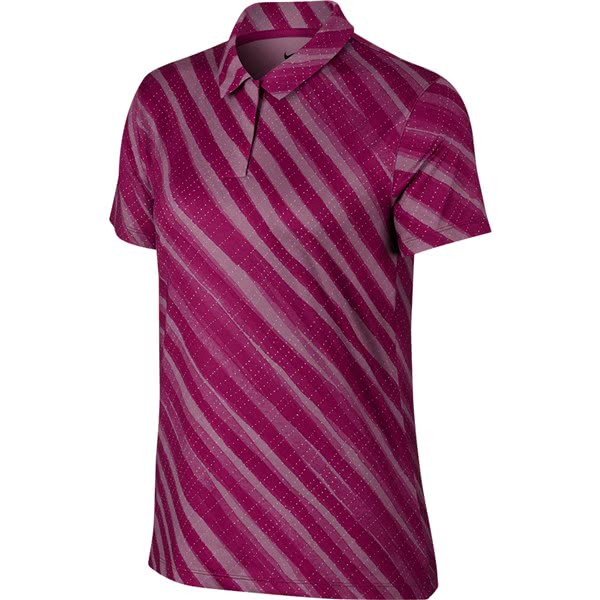 Nike Ladies Dri-Fit Printed Polo Shirt
