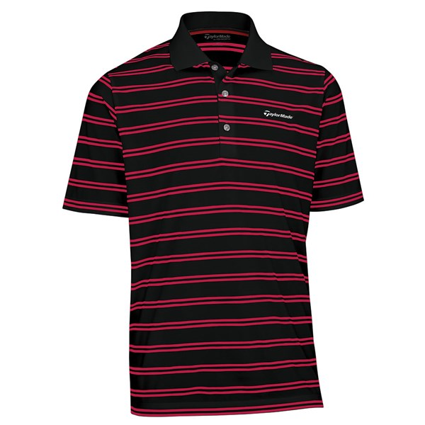 TaylorMade By Ashworth Pique Striped Polo