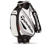 TaylorMade 9.5 Inch Tour Staff Bag 2015 (White/Silver/Black)