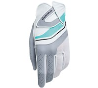 TaylorMade Ladies Ribbon Golf Gloves (White/Grey)