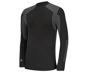 Adidas Mens Climawarm 3-Stripes Mock Neck Baselayer