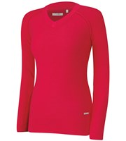 Adidas Ladies Essentials V-Neck Sweater