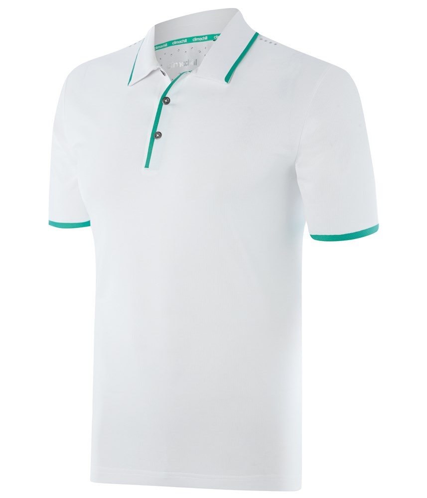 Adidas Mens Climachill Bonded Solid Polo Shirt Golfonline