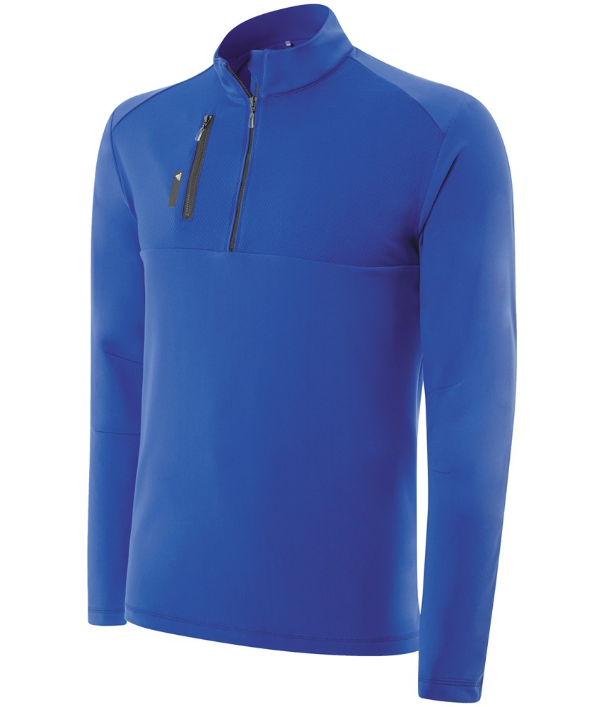 76835675a95183 adidas Mens Climalite Mixed Media 1 4 Zip Layering Top. Double tap to zoom