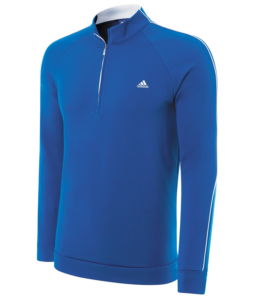 adidas mens climalite 1 4 zip contrast pullover 2014 golfonline. Black Bedroom Furniture Sets. Home Design Ideas
