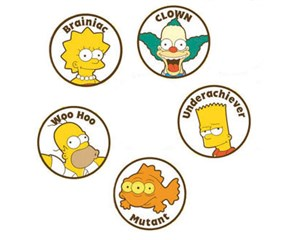 Simpsons Ball Marker Set  5 Pack