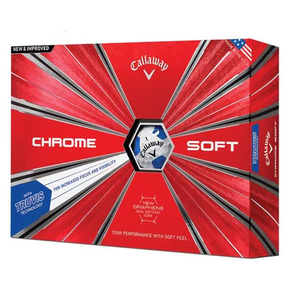 Callaway Chrome Soft Truvis Blue Golf Balls (12 Balls) 2018
