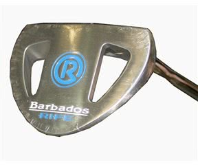 Rife Island Series Barbados Silver Putter with SuperStroke  Heel Shaft