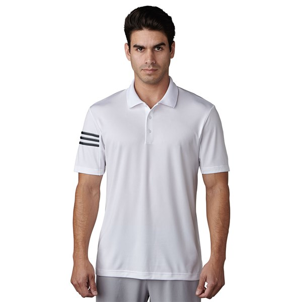 32b4416a adidas Mens ClimaCool 3 Stripes Club Crestable Polo Shirt. Double tap to  zoom. 1 ...