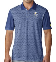 Adidas Mens ClimaCool Aeroknit Geo Burnout Ryder Cup Polo Shirt