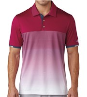 Adidas Mens ClimaChill Gradient Stripe Polo Shirt