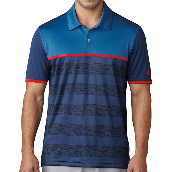 a146c2bc adidas Mens ClimaCool 2D Camo Stripe Polo Shirt. Double tap to zoom. 1; 2