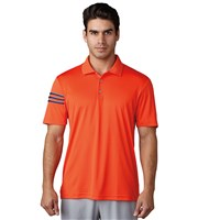 Adidas Mens ClimaCool 3 Stripes Club Crestable Polo Shirt