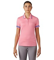Adidas Ladies 3 Stripes Tipped Polo Shirt