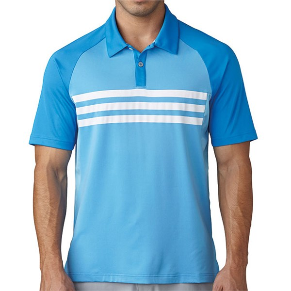 adidas Mens ClimaCool 3 Stripes Competition Polo Shirt
