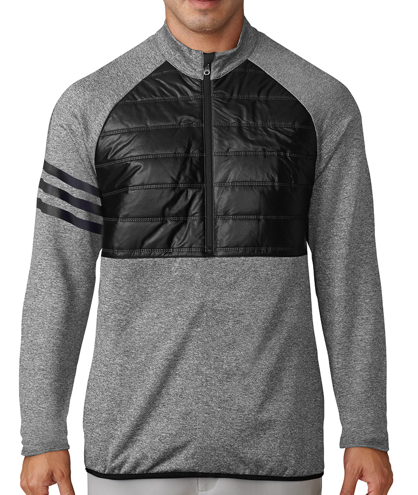 Adidas Mens Climaheat Quilted Half Zip Jacket Golfonline