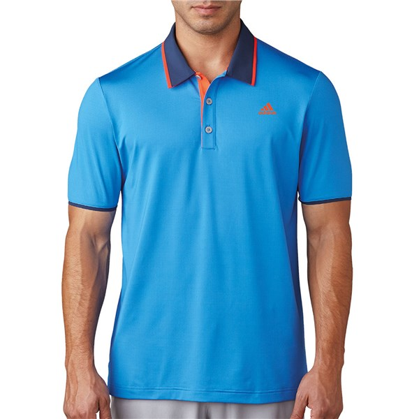 new products 3caf8 92ce5 adidas Mens ClimaCool Performance Polo Shirt (Logo on Chest)