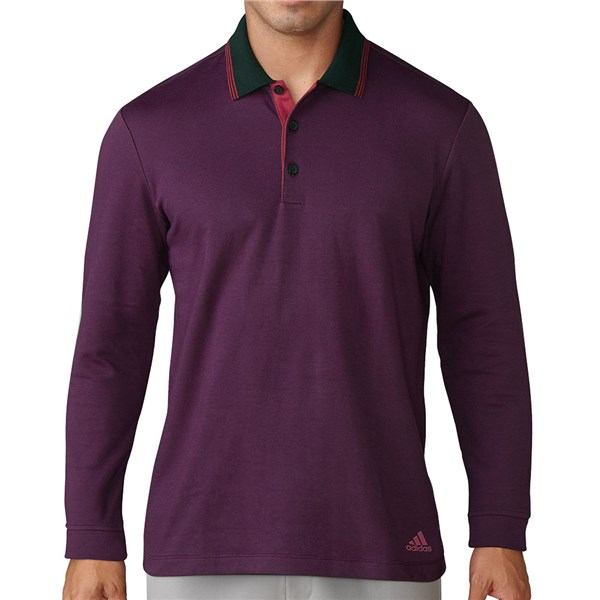 c97eec97 adidas Mens ClimaWarm Layering Long Sleeve Polo Shirt. Double tap to zoom.  1; 2