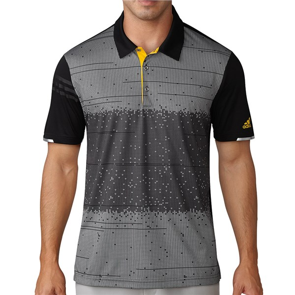 Adidas Mens ClimaChill Pixel Print Polo Shirt