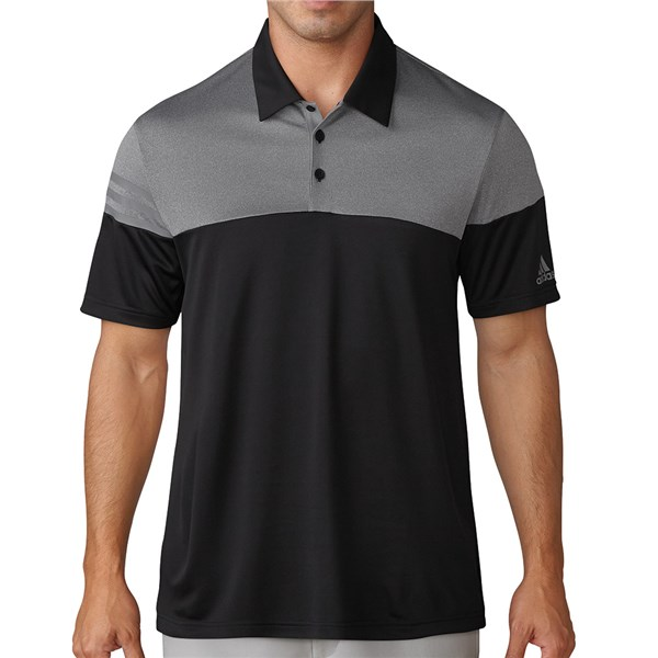 48049dfd adidas Mens Heather 3 Stripes Polo Shirt. Double tap to zoom. 1; 2