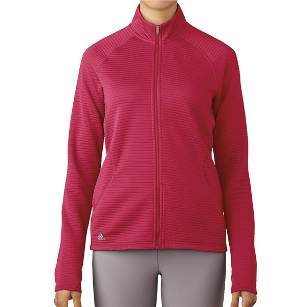adidas Ladies Essentials 3 Stripes Full Zip Layering Top