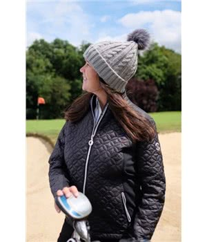 Ladies Cable Golf Bobble Beanie Hat. Double tap to zoom. 1 ... c44f45f9df29