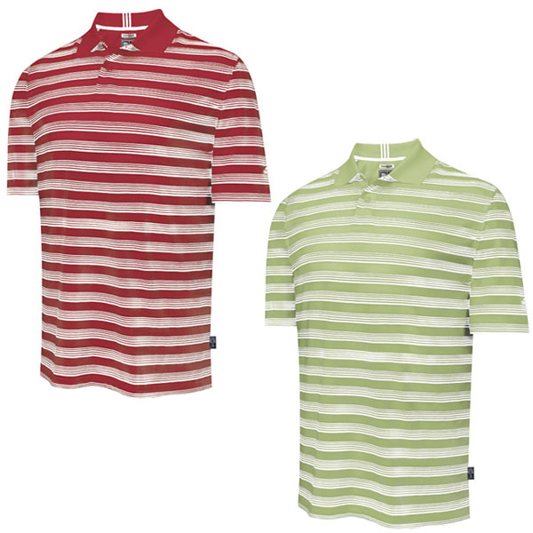 Adidas Mens ClimaLite Bi-Colour Awning Stripe Polo Shirt