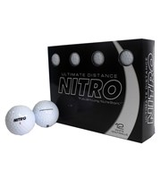 Nitro Ultimate Distance Golf Balls  12 Balls