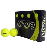 Nitro Ultimate Distance Yellow Golf Balls  12 Balls