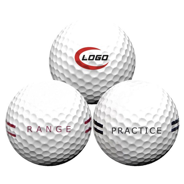2 Piece Logo Range Golf Ball + Logo (300 Balls)