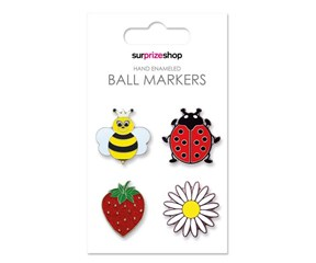 Hand Enamaled Golf Ball Marker Set