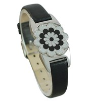 Ladies Real Leather Ball Marker Bracelet